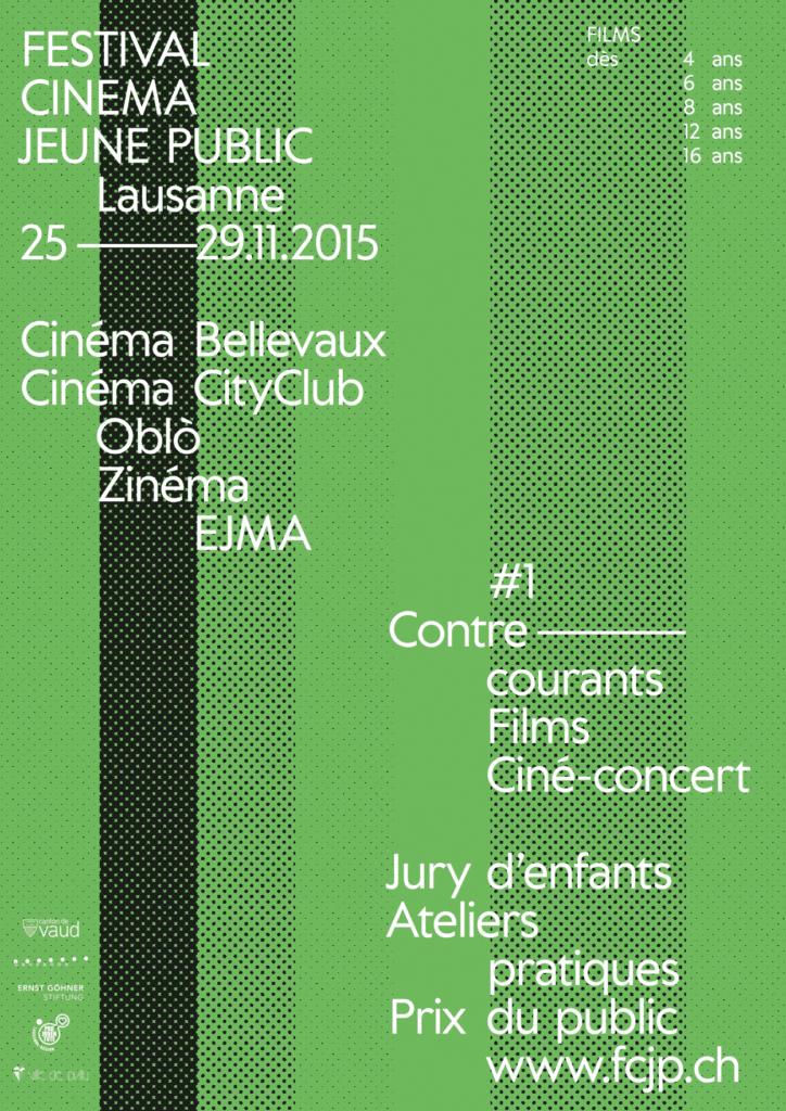 Affiche de l'édition 2015 du Festival Cinéma Jeune Public